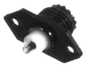 RFU-603-2 RF Industries Mini-UHF Female 2Hole Panel Mount Black Chrome 2.5GHz