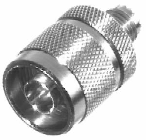 RFU-625 RF Industries M-UHF FEM TO N MALE ADAPTER, Nickel,Gold,T