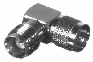 RFU-633 RF Industries M-UHF MALE TO TNC FEM Right Angle ADAPTER, Nickel,Gold,T