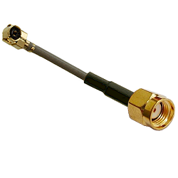 RFW-10859-9 RF Industries MHF Right Angle PLUG TO REVERSE POLARITY SMA MALE; 113MM COAXIAL CABLE