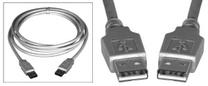 RFW-4000-3MW RF Industries USB CABLE ASSEMBLY, TYPE A TO TYPE A, 3 METER, OFF WHITE