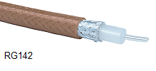 RG142B/U Coaxial Cable 1,000ft Spool Teflon Jacket 50ohm