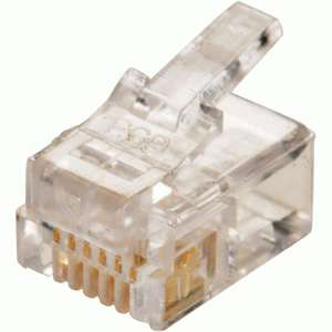 RJ11-6P4C RF Industries RJ11 PLUG; 6 POSITIONickel, 4 CONTACT; UL 942V-2 FLAME GRADE