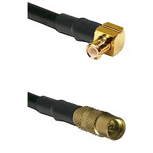 Right Angle MCX Male To MMCX Female Connectors LMR100 Cable Assembly