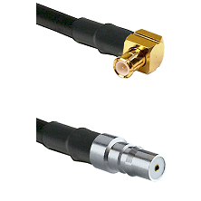 MCX Right Angle Male on LMR100 to QMA Female Cable Assembly