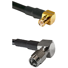 MCX Right Angle Male on LMR100 to SSMA Right Angle Male Cable Assembly