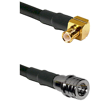 MCX Right Angle Male on LMR-195-UF UltraFlex to QMA Male Cable Assembly