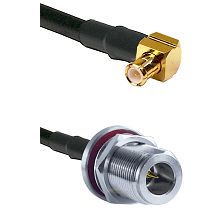 MCX Right Angle Male on LMR-195-UF UltraFlex to N Reverse Polarity Female Bulkhead Coaxial Cable Ass
