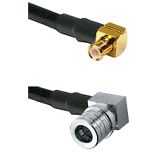 MCX Right Angle Male on LMR-195-UF UltraFlex to QMA Right Angle Male Cable Assembly