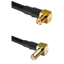 MCX Right Angle Male on LMR-195-UF UltraFlex to SLB Right Angle Male Cable Assembly