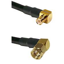 MCX Right Angle Male on LMR-195-UF UltraFlex to SMA Right Angle Male Cable Assembly