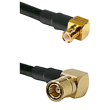 MCX Right Angle Male on LMR-195-UF UltraFlex to SMB Right Angle Female Cable Assembly
