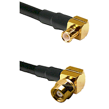 MCX Right Angle Male on LMR-195-UF UltraFlex to SMC Right Angle Female Cable Assembly