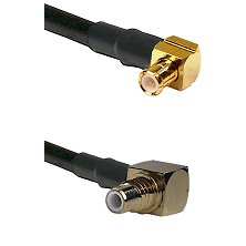 MCX Right Angle Male on LMR-195-UF UltraFlex to SMC Right Angle Male Cable Assembly
