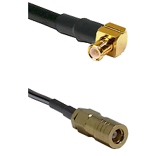 MCX Right Angle Male on LMR-195-UF UltraFlex to SLB Female Cable Assembly