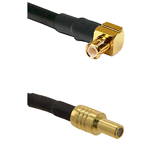 MCX Right Angle Male on LMR-195-UF UltraFlex to SLB Male Cable Assembly