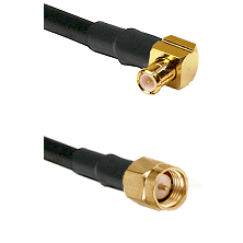 MCX Right Angle Male on LMR-195-UF UltraFlex to SMA Male Cable Assembly