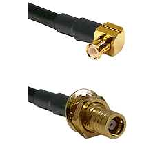 Right Angle MCX Male To SMB Female Bulk Head Connectors LMR-195-UF UltraFlex Custom Coaxial C