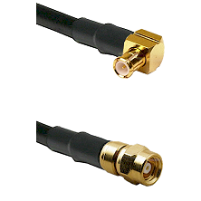 MCX Right Angle Male on LMR-195-UF UltraFlex to SMC Male Cable Assembly