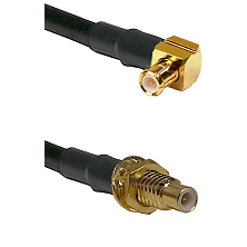 MCX Right Angle Male on LMR-195-UF UltraFlex to SMC Male Bulkhead Cable Assembly