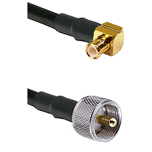 Right Angle MCX Male To UHF Male Connectors LMR-195-UF UltraFlex Cable Assembly