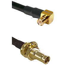 MCX Right Angle Male on LMR200 UltraFlex to 10/23 Female Bulkhead Cable Assembly