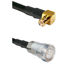 MCX Right Angle Male on RG142 to 7/16 Din Female Cable Assembly