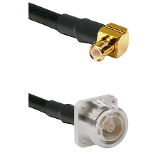MCX Right Angle Male on RG142 to 7/16 4 Hole Female Cable Assembly