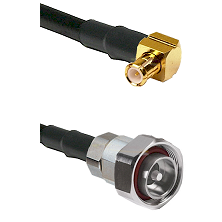 MCX Right Angle Male on RG142 to 7/16 Din Male Cable Assembly