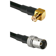 MCX Right Angle Male on RG142 to BNC Female Cable Assembly