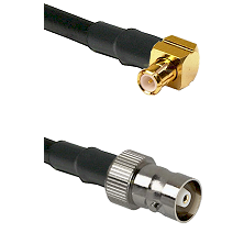 MCX Right Angle Male on RG142 to C Female Cable Assembly