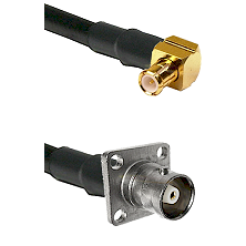 MCX Right Angle Male on RG142 to C 4 Hole Female Cable Assembly