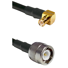 MCX Right Angle Male on RG142 to C Male Cable Assembly