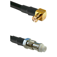 MCX Right Angle Male on RG142 to FME Female Cable Assembly