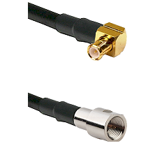 MCX Right Angle Male on RG142 to FME Male Cable Assembly