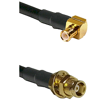 MCX Right Angle Male on RG142 to MCX Female Bulkhead Cable Assembly