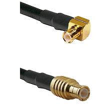 MCX Right Angle Male on RG142 to MCX Male Cable Assembly