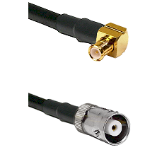 MCX Right Angle Male on RG142 to MHV Female Cable Assembly