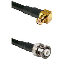 MCX Right Angle Male on RG142 to MHV Male Cable Assembly