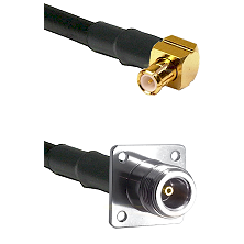 MCX Right Angle Male on RG142 to N 4 Hole Female Cable Assembly