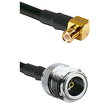 MCX Right Angle Male on RG188 to N Female Cable Assembly