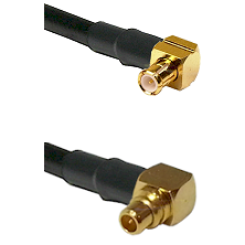 MCX Right Angle Male on RG188 to MMCX Right Angle Male Cable Assembly