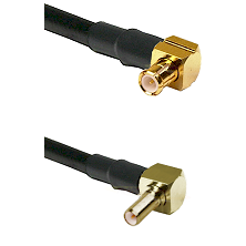 MCX Right Angle Male on RG188 to SSLB Right Angle Male Cable Assembly