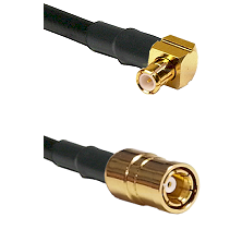 Right Angle MCX Male To SMB Female Connectors RG188 Cable Assembly