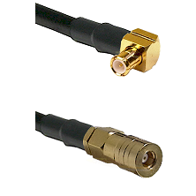 MCX Right Angle Male on RG188 to SSLB Female Cable Assembly