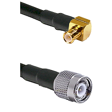 MCX Right Angle Male on RG188 to TNC Male Cable Assembly