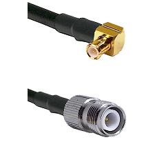 MCX Right Angle Male on RG223 to TNC Reverse Polarity Female Cable Assembly