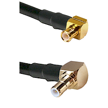 Right Angle MCX Male On RG223 To Right Angle SMB Male Connectors Coaxial Cable