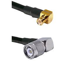 Right Angle MCX Male On RG223 To Right Angle TNC Male Connectors Coaxial Cable