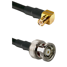 MCX Right Angle Male on RG316DS Double Shielded to BNC Reverse Polarity Male Cable Assembly